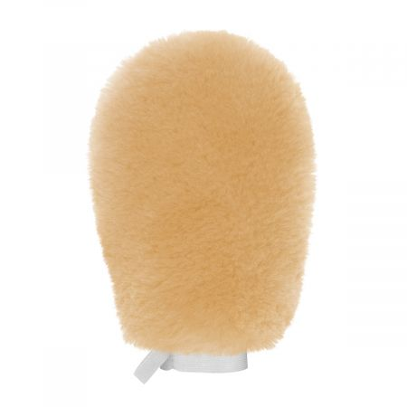 Grooming Mitt, lambskin double-sided